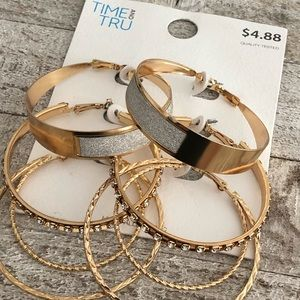 Time And Tru | Set of 3 Hoop Earrings